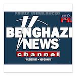 Benghazi News Channel Square Car Magnet 3