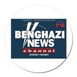 Benghazi News Channel Round Car Magnet
