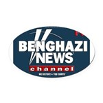 Benghazi News Channel Oval Car Magnet