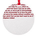 Christian Nation Quote Ornament