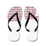 Christian Nation Quote Flip Flops