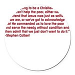 Christian Nation Quote Round Car Magnet
