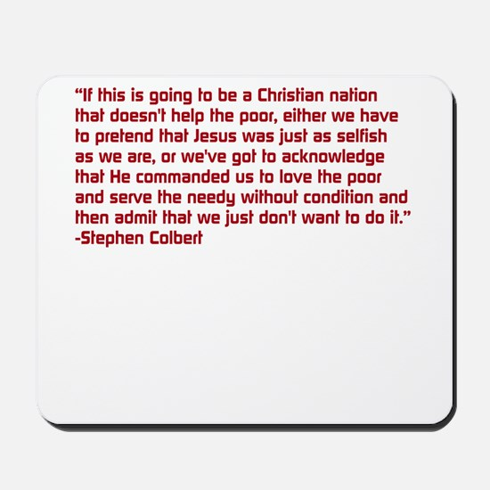 Christian Nation Quote Mousepad