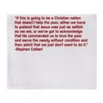 Christian Nation Quote Throw Blanket