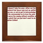 Christian Nation Quote Framed Tile