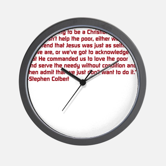 Christian Nation Quote Wall Clock