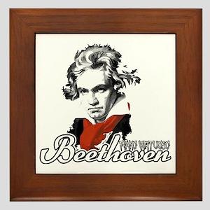 Beethoven piano virtuoso Framed Tile