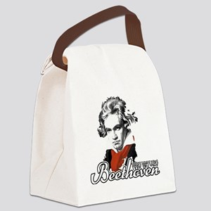 Beethoven piano virtuoso Canvas Lunch Bag