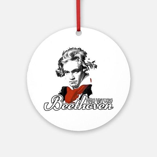 Beethoven piano virtuoso Round Ornament