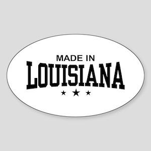 Made in Louisiana Oval Sticker
