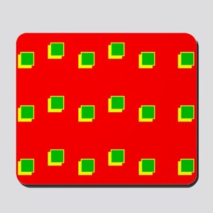 Red Green Colours Christmas Beveled Squa Mousepad