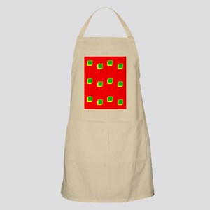 Red Green Colours Christmas Beveled Squares Apron