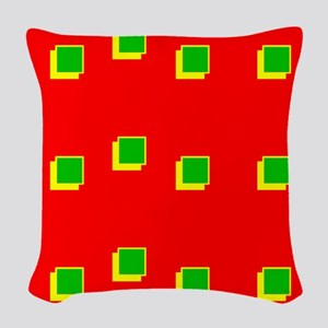 Red Green Colours Christmas Be Woven Throw Pillow