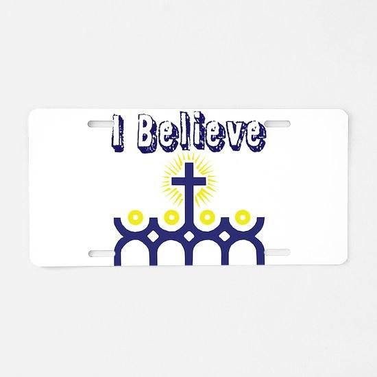I believe Aluminum License Plate