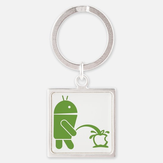 Android pissing on Apple. Square Keychain