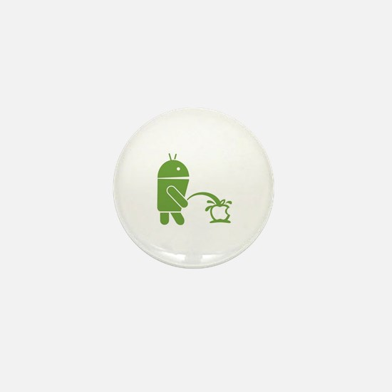 Android pissing on Apple. Mini Button