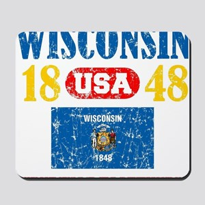"""WISCONSIN USA 1848 STATEHOOD """"PERFECT TO Mousepad"""
