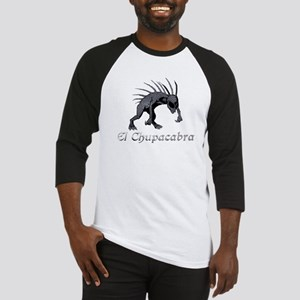 Chupacabra Grey Scales Baseball Jersey