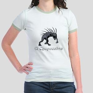 Chupacabra Grey Scales Jr. Ringer T-Shirt
