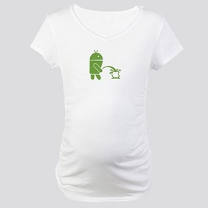 Android pissing on Apple. Maternity T-Shirt