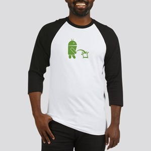 Android pissing on Apple. Baseball Jersey