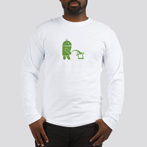 Android pissing on Apple. Long Sleeve T-Shirt