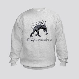 Chupacabra Grey Scales Kids Sweatshirt