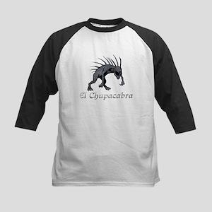 Chupacabra Grey Scales Kids Baseball Jersey