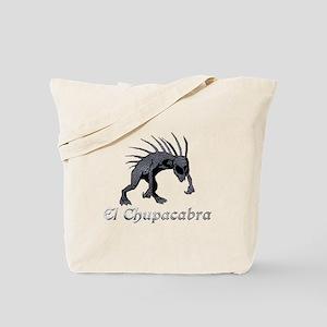 Chupacabra Grey Scales Tote Bag