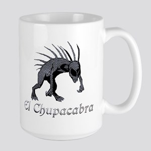 Chupacabra Grey Scales Large Mug
