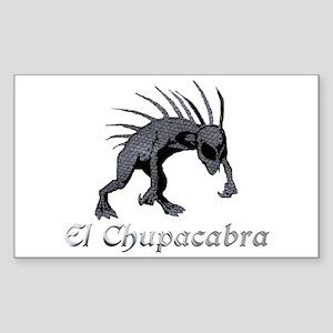 Chupacabra Grey Scales Rectangle Sticker