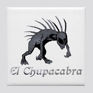 Chupacabra Grey Scales Tile Coaster