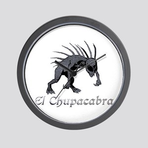 Chupacabra Grey Scales Wall Clock
