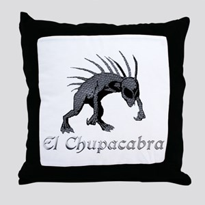 Chupacabra Grey Scales Throw Pillow
