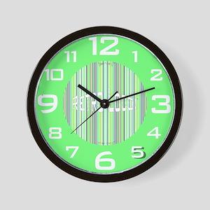 Retro Loco Wall Clock in Vintage Green