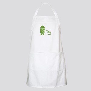 Android pissing on Apple. Apron