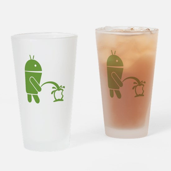 Android pissing on Apple. Drinking Glass