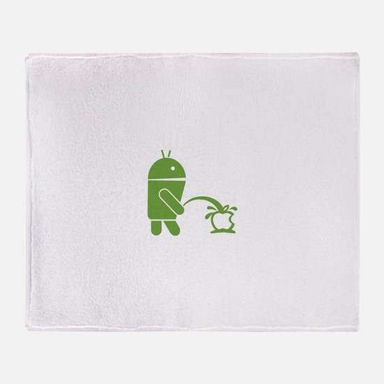 Android pissing on Apple. Throw Blanket