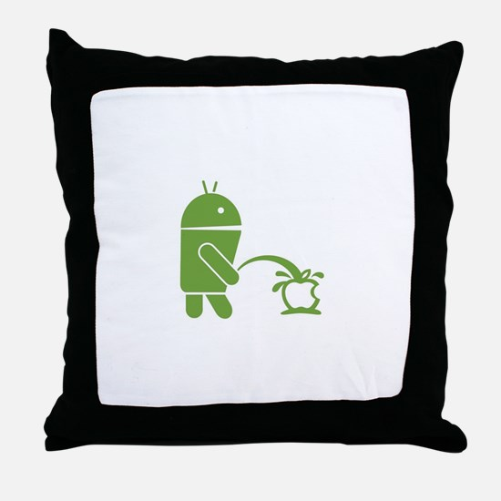 Android pissing on Apple. Throw Pillow