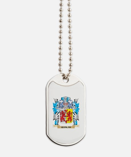 Quinlan Coat of Arms - Family Crest Dog Tags