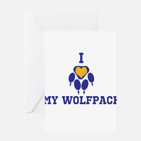 I heart my wolfpack Greeting Cards