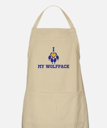 I heart my wolfpack Apron