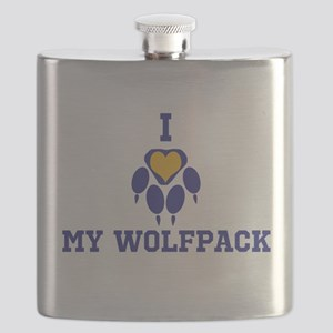 I heart my wolfpack Flask