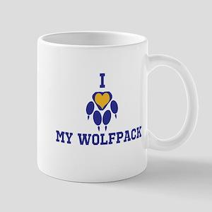 I heart my wolfpack Mugs