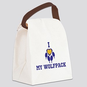 I heart my wolfpack Canvas Lunch Bag