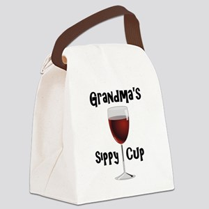 Grandma's Sippy Cup Canvas Lunch Bag
