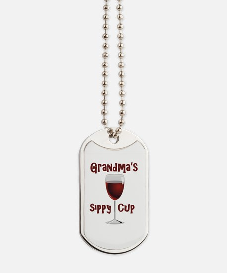 Grandma's Sippy Cup Dog Tags