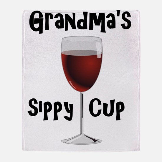 Grandma's Sippy Cup Throw Blanket