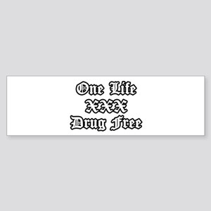 One Life Drug Free Bumper Sticker