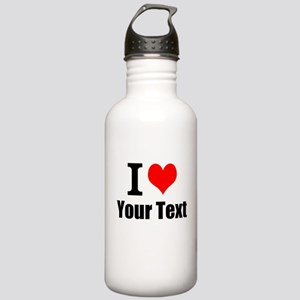 I Heart (your text her Stainless Water Bottle 1.0L